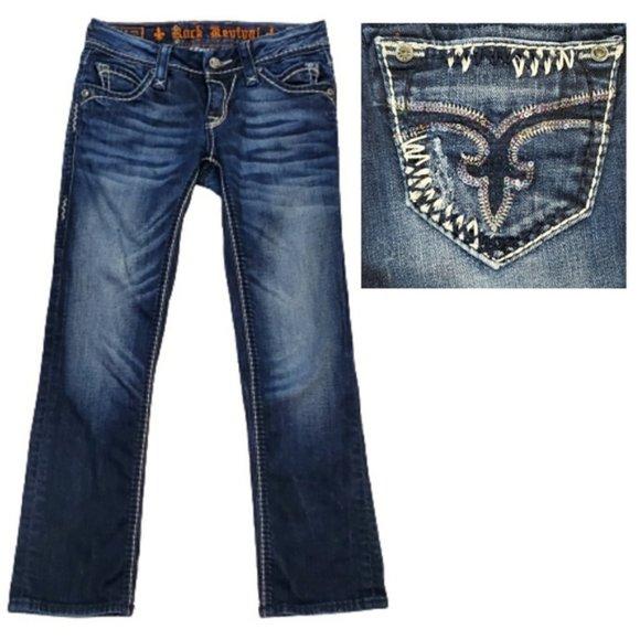 Rock Revival Charlotte Seqiun Cropped Capris Jeans